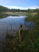 My Son on the Banks of the Ausable